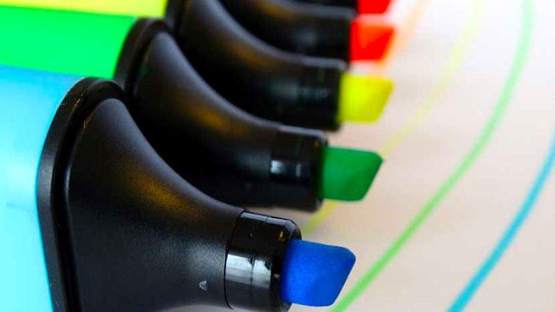 El Subrayador: Un rotulador con tinta al agua